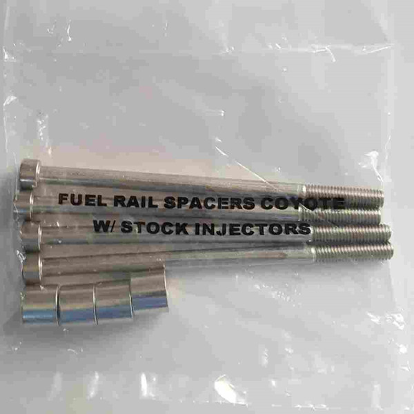 Fuel rail bolt and spacer kit for 11-16 Coyote with tall injectors (60mm)